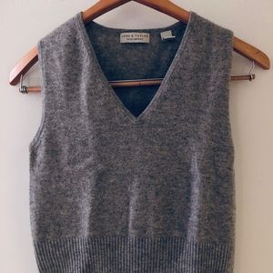 Lord and Taylor grey cashmere vest XS